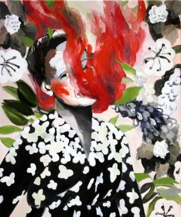 "Saatchi Art Artist Hanna Ilczyszyn; Painting, ""Red smoke (exhibition)"" #art"