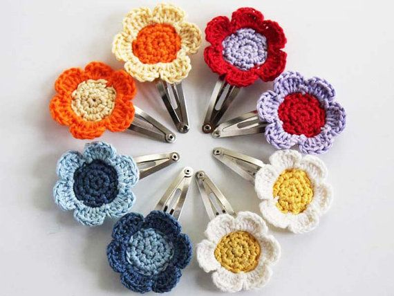 Hey, I found this really awesome Etsy listing at http://www.etsy.com/listing/178588276/handmade-crochet-flower-snap-hair-clips