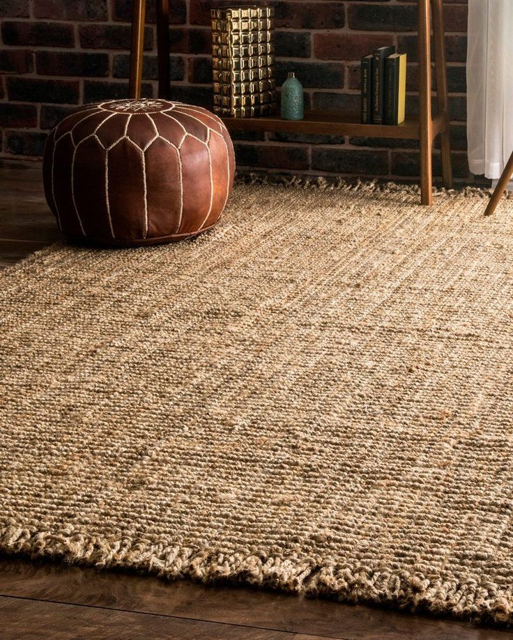 Natural elements. Bohemian fringe edges lend a neutral, textured jute look that looks great with any style. Jute rugs are an eco-friendly, natural material that biodegrade naturally in the earth after