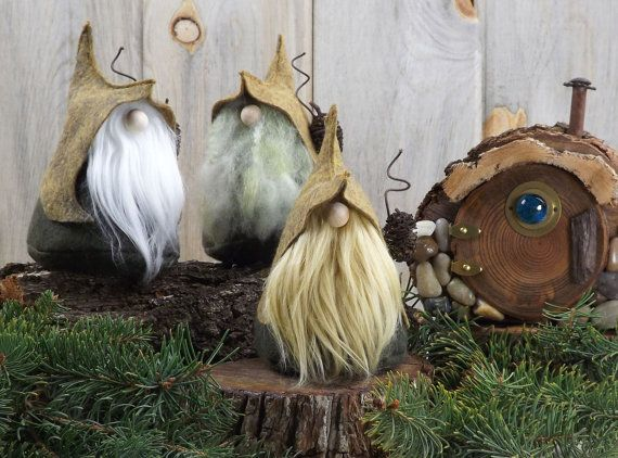Felt Gnome LORE the Quirky Woodland Gnome Forest by TheGnomeMakers