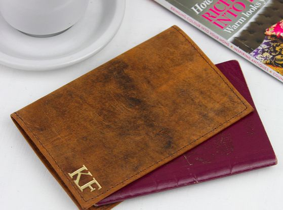 Keep your passport safe and protected with our stylish passport cover made from our unique vintage style leather. #leather #accessory #travelaccessory #travelgift