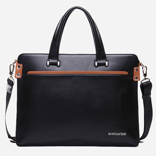 Mens Leather Briefcases Laptop Business Bags for Men Bostanten 10743 | chanchanbag.com | Design makes you feel satisfied Stylish Mens Leather Briefcases
