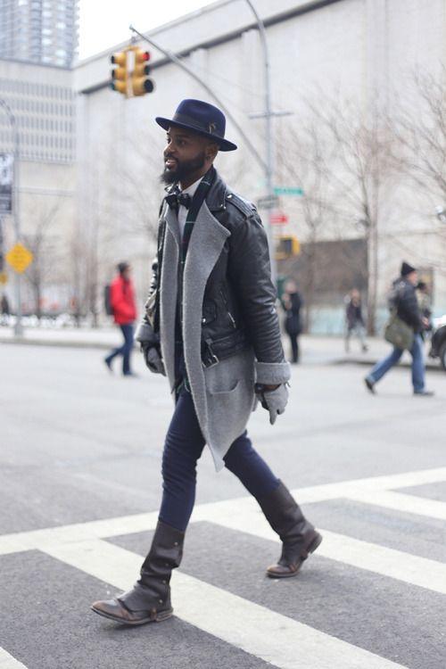 http://chicerman.com  aagdolla:  New York Fashion Week 2015  #streetstyleformen