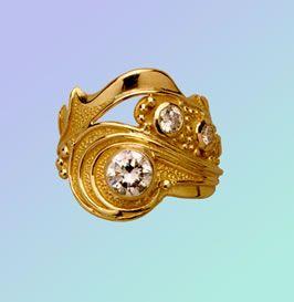 Neptune diamond ring