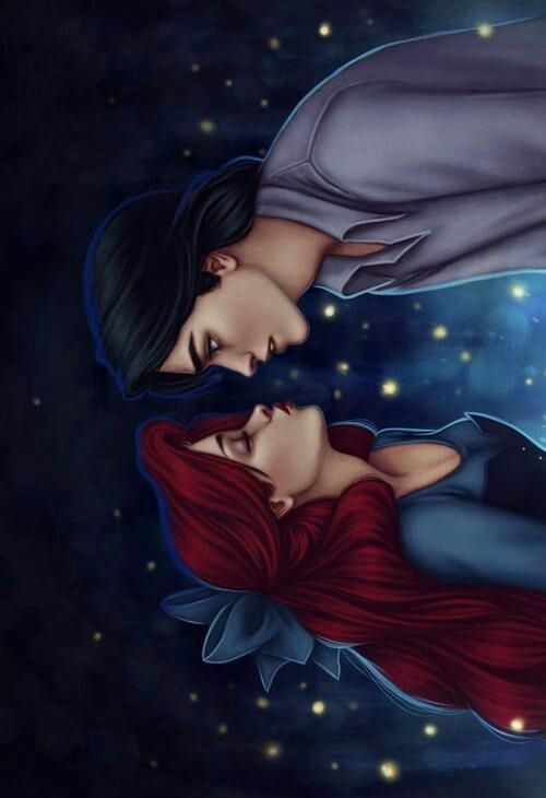 The Little Mermaid Ariel Prince Eric Disney Love Art