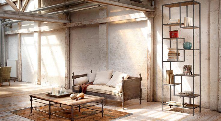 sofa douville couchtisch sean und regal gravesend wohnzimmer loberon wohnen im. Black Bedroom Furniture Sets. Home Design Ideas
