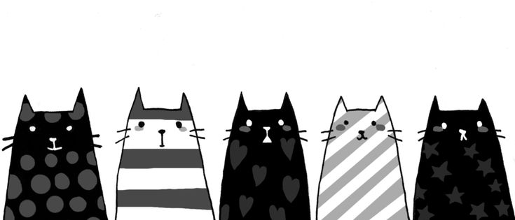 Black Cats of stripes and dots! #cats #stripes #PolkDots