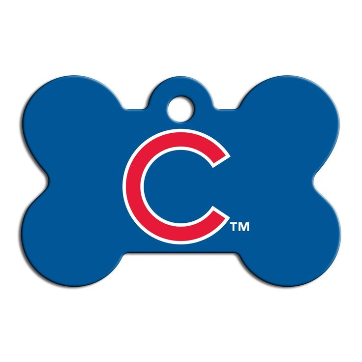 """Quick-Tag+Chicago+Cubs+MLB+Bone+Personalized+Engraved+Pet+ID+Tag,+Large+-+1+1/2"""";+W+X+1"""";+H,+Quick-Tag+Pet+ID+Tags+are+a+must+have+for+every+pet.+Quick-Tag+Pet+ID+Tags+help+ensure+the+safety+of+your+pet+if+they+wander+off+or+get+lost.+Quick-Tag+can+be+engraved+with+personal+information+to+ensure+a+safe+return. - http://www.petco.com/shop/en/petcostore/product/quick-tag-chicago-cubs-mlb-bone-personalized-engraved-pet-id-tag"""