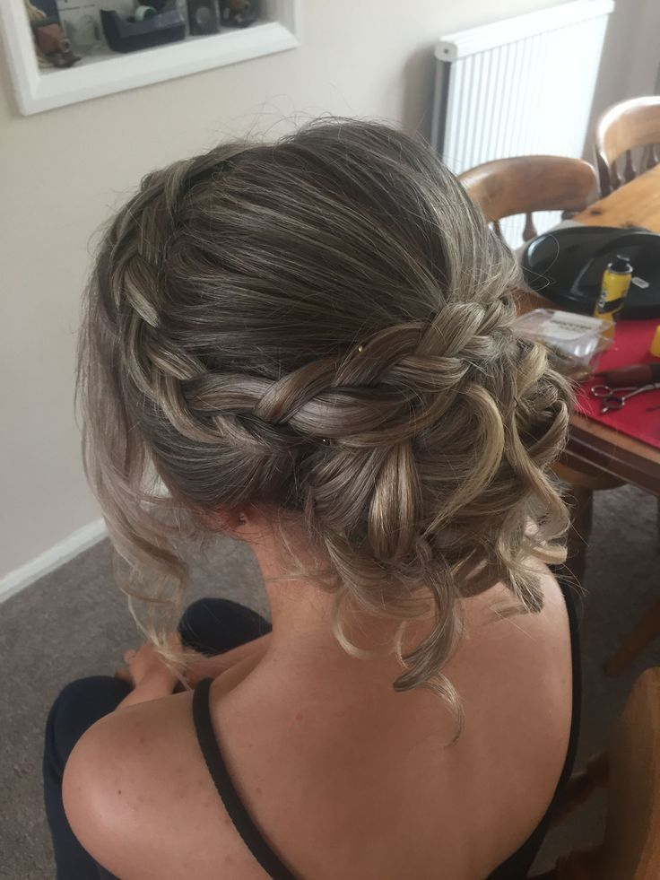 Rachael white freelance stylist  Prom hair braid plait updo. Bridal hair. #ha
