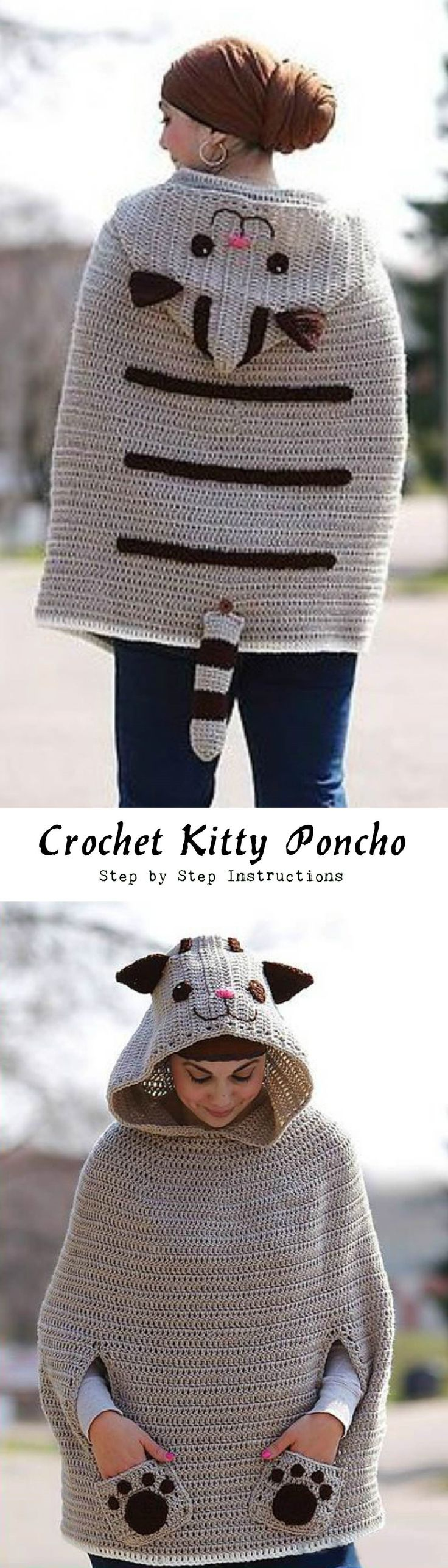 Crochet Kitty Poncho