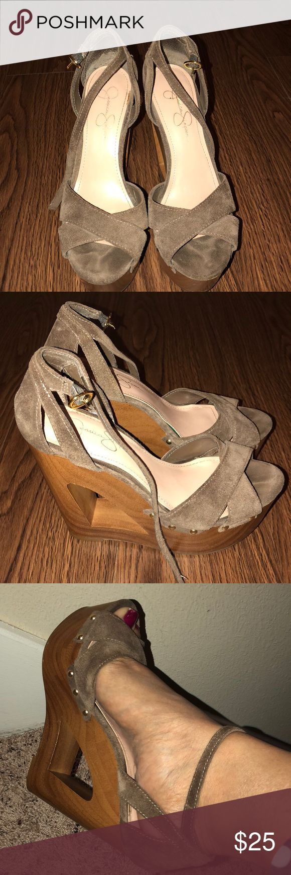 Jessica Simpson wedges Cute Jessica Simpson Wedges. Loves the color and studs and heel! Jessica Simpson Shoes Wedges