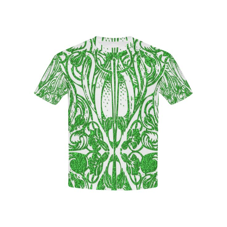 Lace Green All Over Print T-shirt for Kid (USA Size) (Model T40)