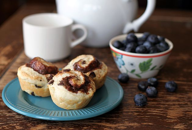 Philly Chocolate Cream Cheese Breakfast Biscuits - The Kitchen Magpie