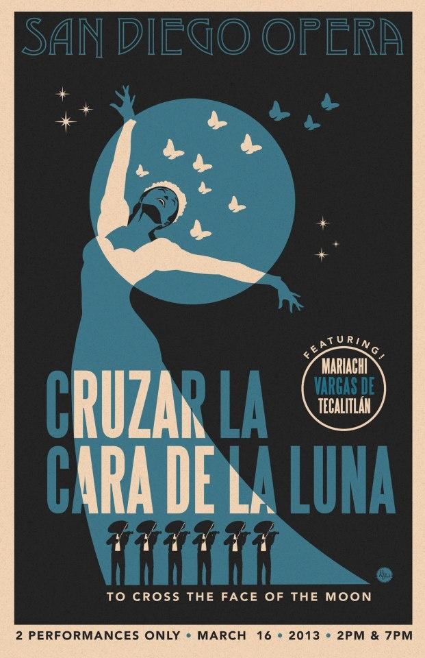 Here is R. Black's second take on our Cruzar la cara de la luna.