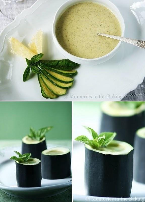 Zucchini basil soup - Memories in the Baking