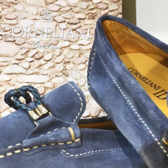 S/S 15 Corneliani suede loafers