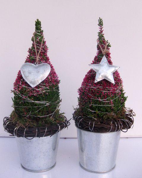 weihnachtliche Dekoration - Weihnachtsbäumchen von kunstbedarf24 auf DaWanda.com