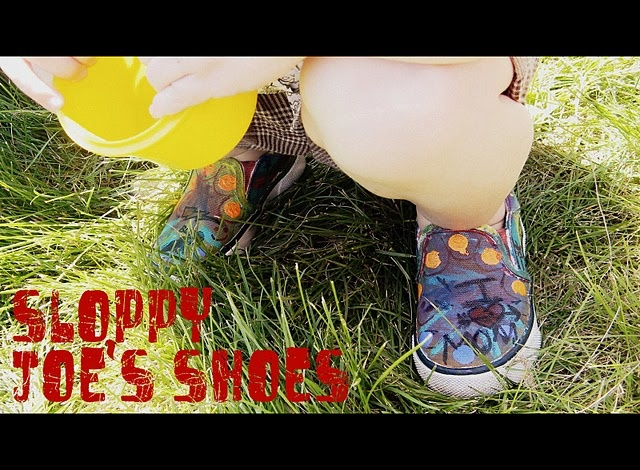 I LOVE this idea...great way to get cute shoes for Jaxon at a low cost!