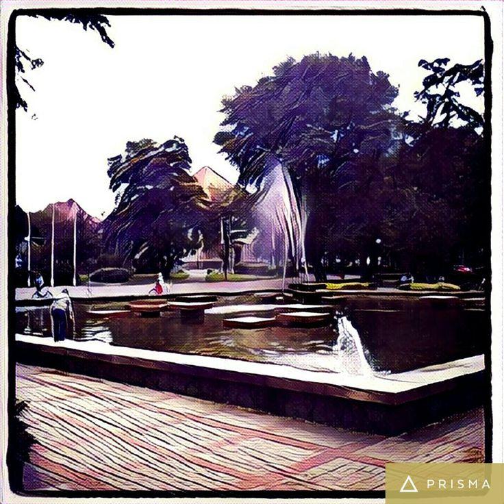 Fontanna w Głogowie / Fountain in Głogów, Poland