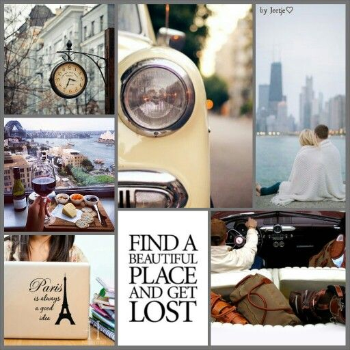 Find a beautiful place and get lost. #moodboard #mosaic #collage #byJeetje♡