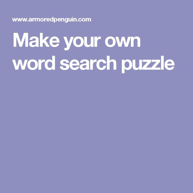 Word Search Generator :: Create your own printable word ...