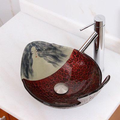Elimaxs Elite Mermaid Vessel Bathroom Sink Drain Finish: