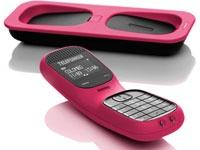 Téléphone sans fil DECT TD 101 Rose : Téléphone sans fil  DECTEcran rétro-éclairé 2 lignes - Réglage de la sonnerie - Autonomie en communication : 10h, répertoire de 100 entrées - 10 sonneries