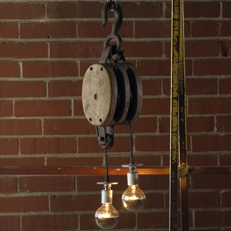 The Rustic Sailor Pulley Pendant Light Wooden Pulley By: 102 Best Images About Lights / Lamps On Pinterest