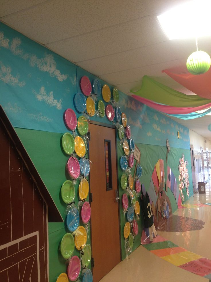 Lollipop woods, pepperment Forrest and crooked old peanut bridle house. Candyland homecoming hallway!