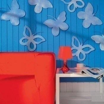 Декорирование стены: делаем бабочек из тонкой потолочной плитки
