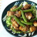 スナップえんどうと豚肉の炒め物 by クッキングパパレシピ