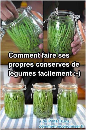 la recette pour faire des conserves de légumes