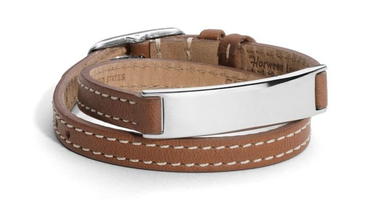 Sterling silver and tan leather bracelet ($350)