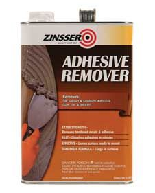 Say goodbye to dry, caked-on adhesives from old tile, carpet or linoleum with Rust-Oleum® Zinsser® Adhesive Remover. This extra-strength formula clings to the surface, softening old mastic and loosening adhesives for quick removal—all within minutes.