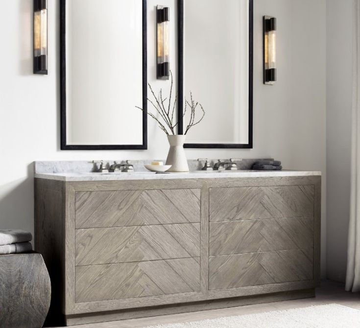 Vanity, Restoration Hardware, Bathroom