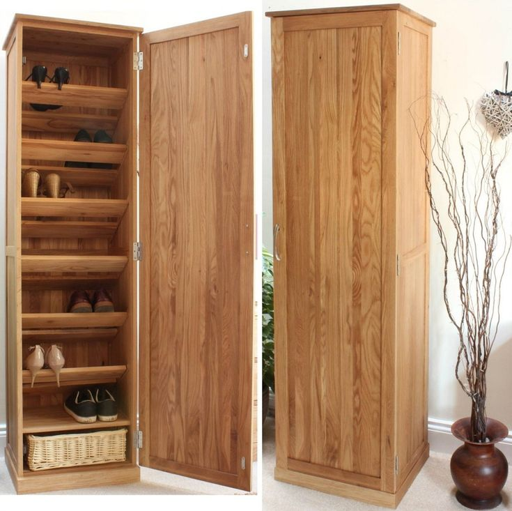 Furniture, Tall Closed Wooden Shoe Rack Cabinet With 7 Tiers And Door Ideas ~ Closed Shoe Rack