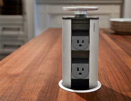 EVOline® Port Simple Pop Up Power For Kitchen Countertops!