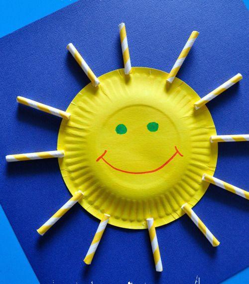 Simple Paper Plate Sun
