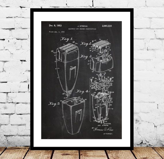 Electric Razor Print, Electric Razor Poster, Electric Razor Patent, Electric Razor Decor, Electric Razor Wall Art, Electric Razor Art by STANLEYprintHOUSE  1.00 USD  We use only top quality archival inks and heavyweight matte fine art papers and high end printers to produce a stunning quality print that's made to last.  Any of these posters will make a great affordable gift, or tie any room together.  Please choose between different sizes and col ..  https://www.etsy.com/ca/listing..