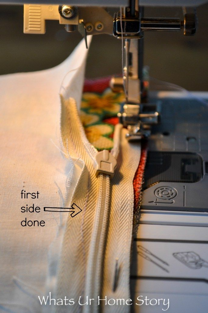 how to sew an invisible zipper pillow