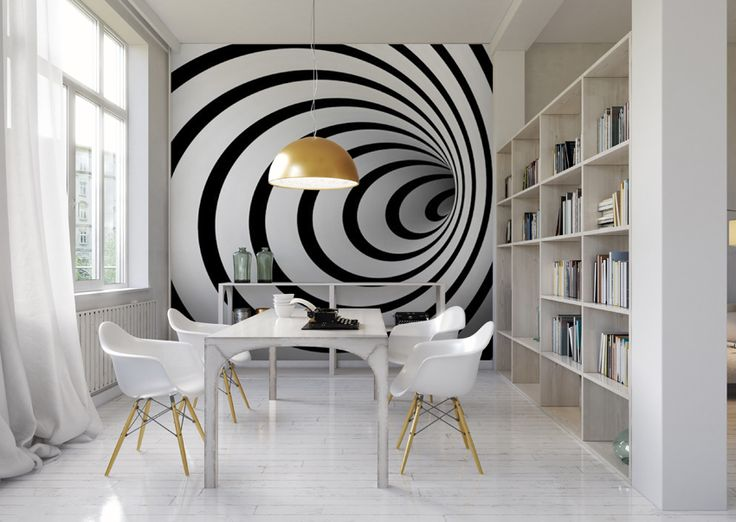 Fototapeta na wymiar czarno bia y tunel 3d d and 3d for 3d wallpaper for office wall