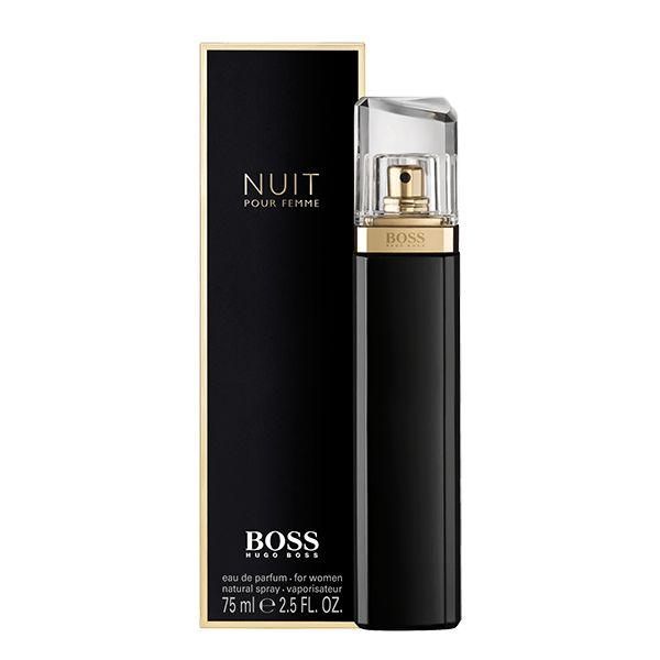 EAU DE PARFUM - Boss Nuit Eau de Parfum è una fragranza femminile e sensuale, ispirata ai seducenti abiti da sera di colore nero. Scopri di più su questo profumo.