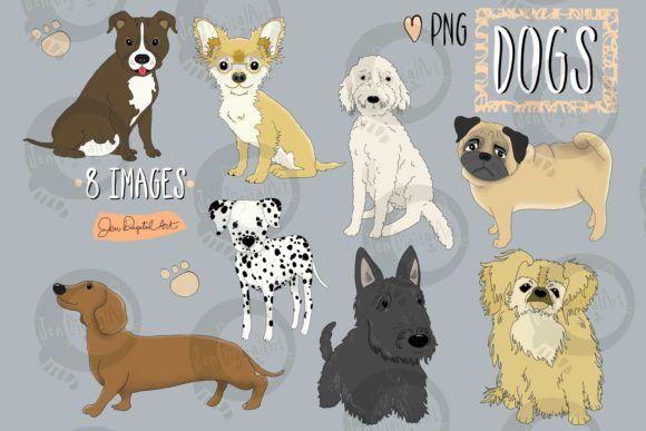 Little Scruffy Dog Graphic By Jen Digital Art Creative Fabrica Dog Clip Art Illustration Art Graphic Illustration