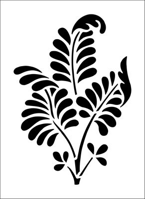Ferns Solo stencil from The Stencil Library BUDGET STENCILS range. Buy stencils online. Stencil code CS38.