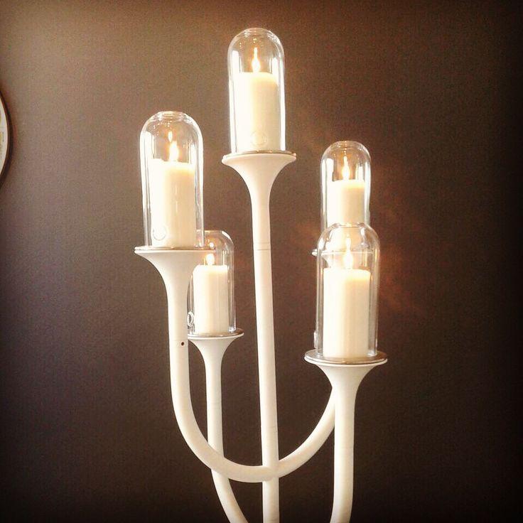 Now at Dutch Design Week #ddw #ddw14 brand new #RiZZ candelabra. Design by #teunfleskens. #rizzblog #entrance   #candles