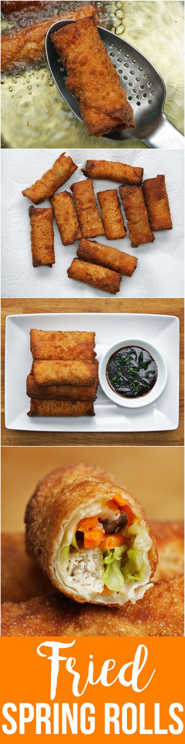 Chicken & Veggie Spring Rolls | Ring In Spring Time And Enjoy These Awesome Deep-Fried Spring Rolls