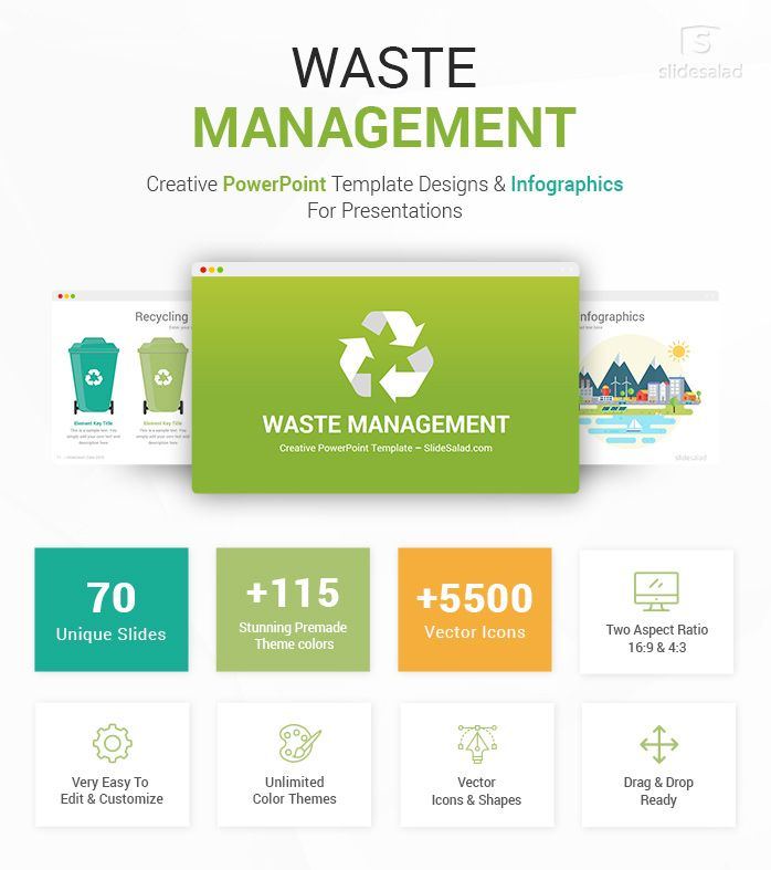 Waste Management Powerpoint Template Infographics Powerpoint