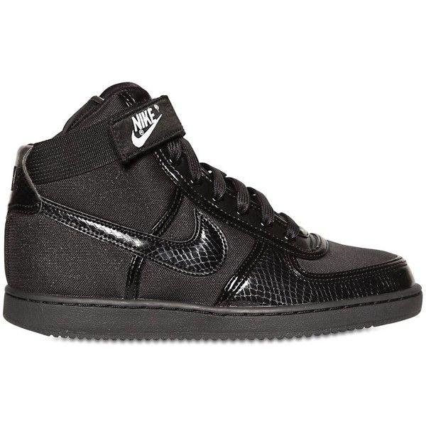 NIKE Vandal High Top Sneakers - Black ($170) via Polyvore