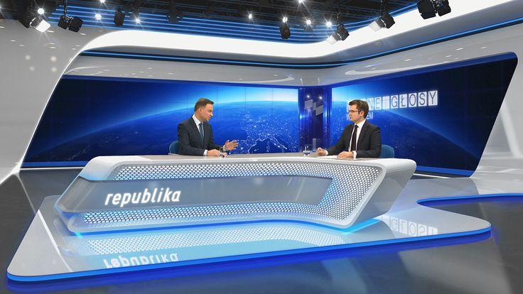 VIRTUAL SET FOR TV REPUBLIKA on Behance