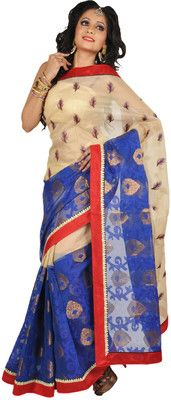 Aparnaa Self Design Embroidered Embellished Cotton Sari - Buy Beige, Blue Aparnaa Self Design Embroidered Embellished Cotton Sari Online at Best Prices in India | Flipkart.com  MRP: Rs. 5,332 Rs. 4,000 24% OFF Selling Price (Free delivery)
